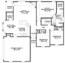 5 Bedroom Ranch House Plans Simple One Story