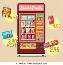 Vending Machine Clip Art Best Clipart Of Retro Vector Vending Machine With Snacks And Drinks Flat