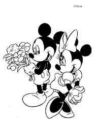 Small Picture Mickey mouse and minnie mouse in love coloring pages Hellokidscom
