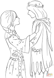 Small Picture Princess with Prince coloring page Free Printable Coloring Pages