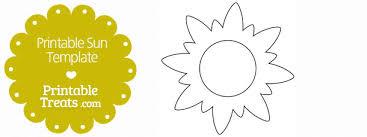 Sun Template Printable Printable Sun Template Printable Treats Com