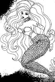 Printable Coloring Pages For Teenagers Difficult Mermaid 3355