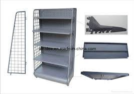 portable retail display units metal display racks with wire shelving