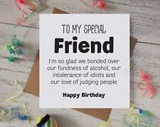 funny birthday card best friend gift idea wine gin rude edy silly humour b51