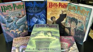 the seven book print set of harry potter books autographed by author j k rowling are