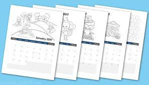 Printable 2017 Calendar Coloring Book For Preschoolers From Abcs