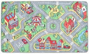 childrens play mat rugs loop pile cm city road pattern item