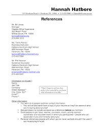 Resume Examples How To Write References On A Resume Free Student