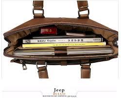 jeep buluo men bag leather bag men s briefcase bag horizontal bags