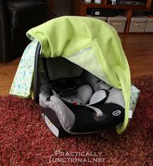 make your own waterproof car seat canopy with this tutorial
