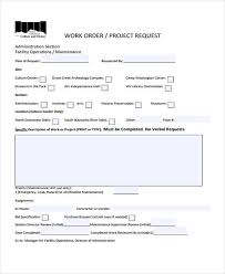 Work Order Templates 10 Free Word Pdf Format Download Free