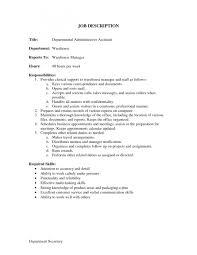 Job Duties List Administrative Assistant Resume Description For
