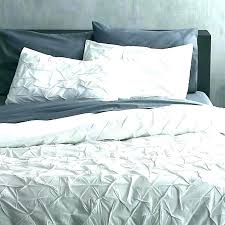 dkny city pleat duvet cover set grey traditional pleated in organic cotton shams