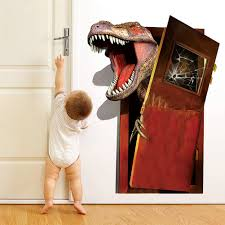 3d Dinosaurus Muursticker Creatieve Muurtattoo Home Decor Living