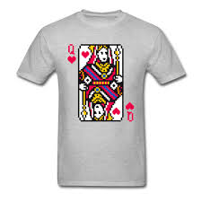 Queen Of Hearts T Shirt Design Us 7 17 56 Off Mosaic Queen Of Hearts Joker Tshirts New Design Play Card Round Neck Tops Tees 100 Cotton Mens Custom T Shirts Print Hombre In