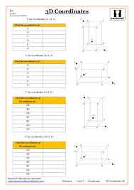 geometry coordinate worksheet ks4 and ks3