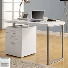white computer desk. Change Store White Computer Desk Monarch Specialties Feather Carpet Brown Floor Wooden Lacquired Good Looking Nice Amazing Awesome