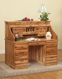 standard amish roll top desk with optional top drawers