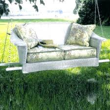 outdoor loveseat swing grove hanging cushions replacement wicker porch swings collection inside bench cushion wood swinging outdoor loveseat swing