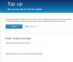 activate your o2 pay as you go sim card