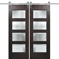 large glass panels model birch 4 lite barn door 2 large glass panels for houses