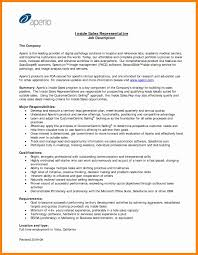 Inside Salesepresentativeesume Format Samples Job