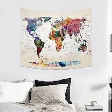 hanging sheet jeteven vintage world map tapestry wall hanging mandala indian