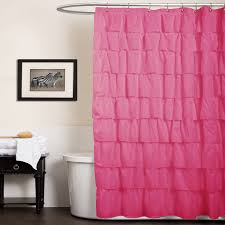 Lush Decor Lake Como Curtains Pink Shower Curtains Fabric
