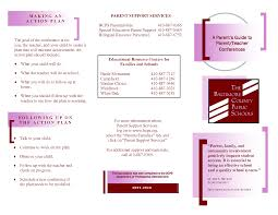 brochure teacher brochure template teacher brochure template ideas