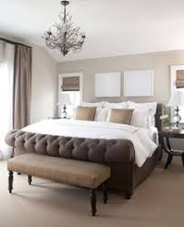 contemporary bedroom ideas. Neutral Bedroom Ideas With White Accents: Fancy Traditional Fabric Upholstery Footboard And Tufted Bedframe Design In Beautify Contemporary