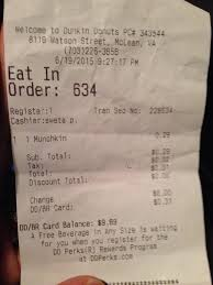 photo of baskin robbins mclean va united states receipt proof of