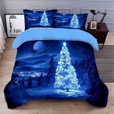 blue tree 3d bedding set