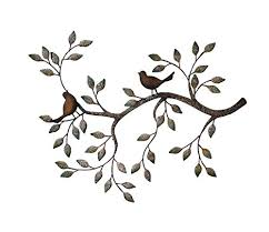 amazon 24 in branches w birds decorative metal wall sculpture product sku hd229165 home kitchen on black metal wall art amazon with amazon 24 in branches w birds decorative metal wall sculpture