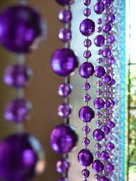 6 beaded curtain blue purple green mini ball