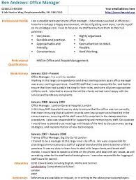 Office Manager Cv Example Office Manager Cv Example Learnist Org