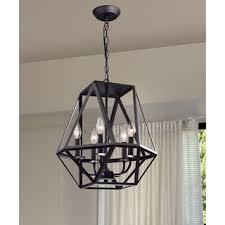 black chandelier lighting photo 5. Joshua 5light Multiangular Antique Black Iron Chandelier Lighting Photo 5