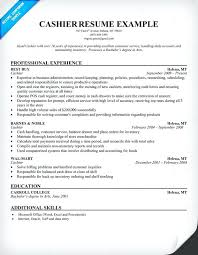 sample of resume for cashier cashier resume sample sample resume for cashier  position with no experience .