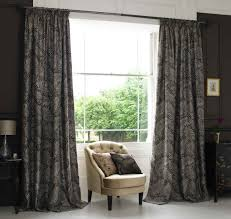 Decorations:Exquisite French Door Curtain Design With Cool Blue Color Idea  Cool Black Decorative Drapery