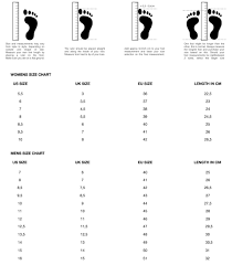 Womens Sneaker Size Chart Shoe Size Chart Arkk Copenhagen
