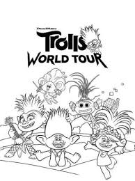 Click on the free troll colour page you would like to print, if you print them all you can make your own coloring book! 25 Free Printable Trolls World Tour Coloring Pages