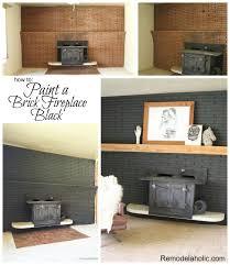 fireplace paint ideasRemodelaholic  Painted Black Brick Fireplace