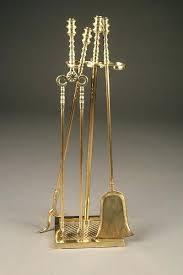 brass fireplace tools nice style heavy duty tool set circa antique duck head