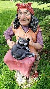 """Отзывы на <b>Фигурка</b> садовая """"Баба-Яга на ступе с <b>котом</b>"""", Ф011 от ..."""