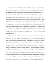 speech critique essay a successful public speaker does not  3 pages self speech critique essay