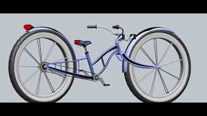 beach cruiser stretched bicycle concept layout 50 inch tires