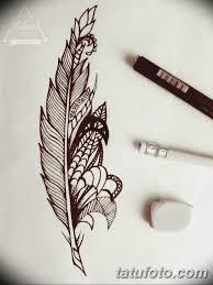 тату перо эскизы для девушек 08032019 009 Tattoo Sketches
