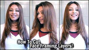 how to cut face framing layers at home diy long layered haircut cut your own hair tutorial