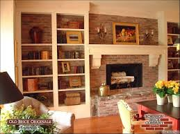 fireplace brick wall how to decorate a red