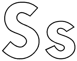 Small Picture Letter S coloring pages to download and print for free
