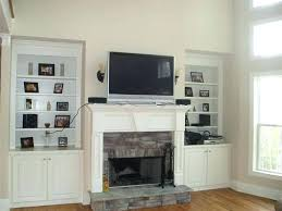 tv fireplace stand costco over ideas above mounted for decorating